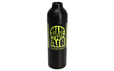 Cilinder zwart geanodiseerd CE (6.0 cu.ft. 6000 psi) #SA002600BLA